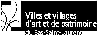 Villes et villages d'art et de patrimoine du Bas-Saint-Laurent (blanc)
